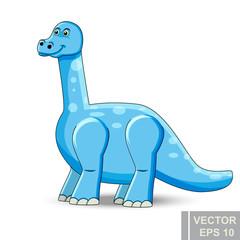 Dinosaur. cartoon style. Prehistoric. Bright. Children's. For your design.
