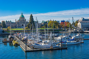 Victoria Harbor with the British Columbia Parliament Building in the background Victoria British Columbia Canada