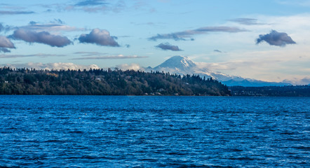 Mountain And Puget Sound Scene 8
