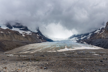 The Athabasca Glacier in Canada