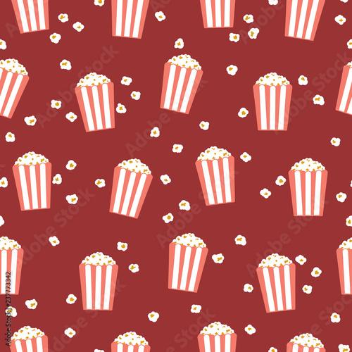 Popcorn Flat Wallpaper Stock Image And Royalty Free Vector