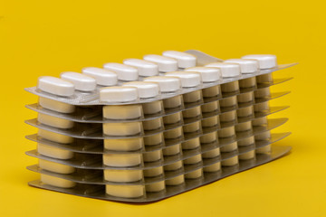 Blister and tablets, pills