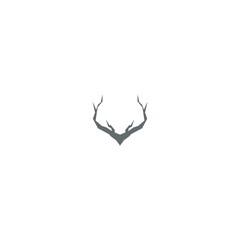 logo deer antlers  abstract