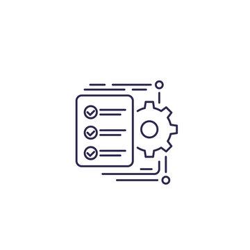 workflow icon, line vector