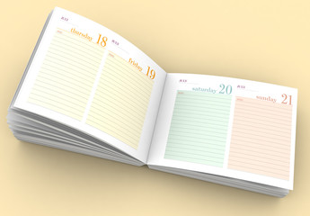 Horizontal 2019 Notebook and Planner Layout