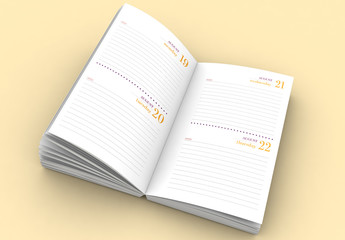 Vertical 2019 Notebook and Planner Layout