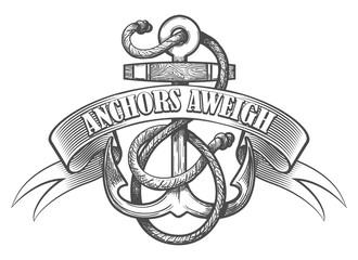 Anchor Aweigh Tattoo Emblem