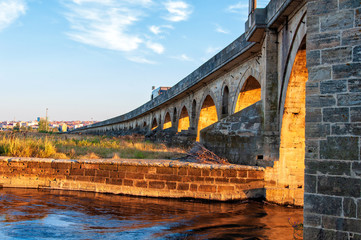 Uzun bridge in Uzunkopru, Edirne, Turkey