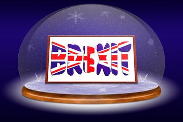 Concept Brexit. England and EU