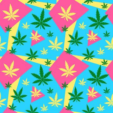 Marijuana,green weed, dope seamless