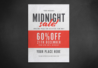 Midnight Sale Flyer Layout