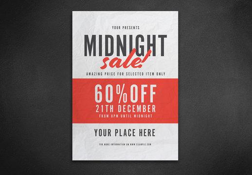 Midnight Sale Flyer Layout