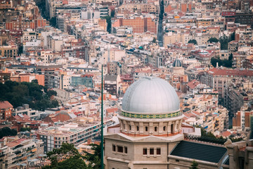 Barcelona, Spain. Fabra Observatory On Cityscape