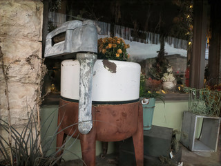 Old Fashion Washing Machine with hand ringer