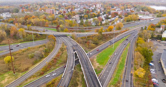 New England Highways East Hartford Connecticut Aerial