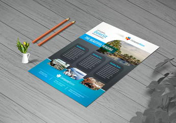 Business Flyer Layout in Four Colors