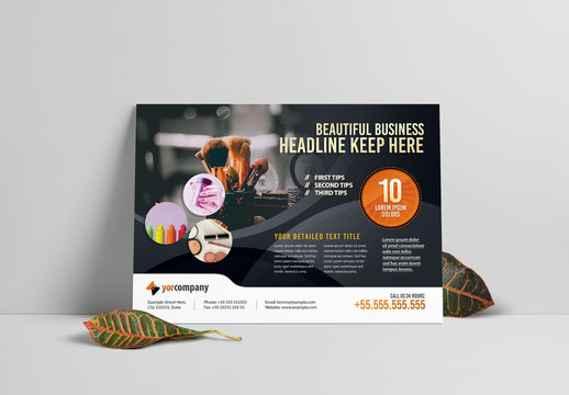 Product Promotion Flyer Layout