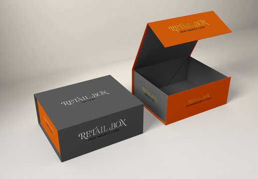 Magnetic Gift Boxes Mockup