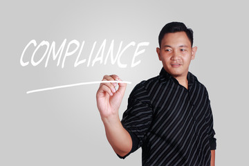 Compliance, Motivational Business Marketing Words Quotes Concept