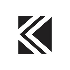 letter k simple square geometric logo