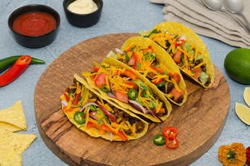 Mexican food tacos. Delicious tacos