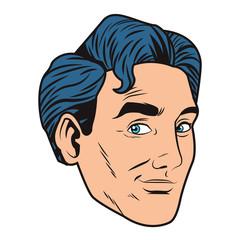 pop art businessman cartoon