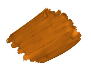 A fragment of the orange-brown color background painted with watercolors