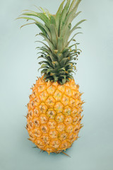 Pineapple Isolated On Green Background