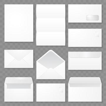 set of envelope template design vector eps 10