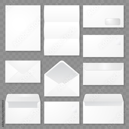 Set Of Envelope Template Design Vector Eps 10