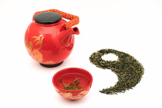 Longjing Tea in Taiji Figure