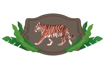 wild tiger body  cartoon