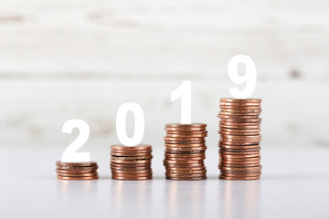 2019 Growth Coins With Copy Space