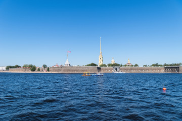 Wall Mural -  saint petersburg landscape of neva river