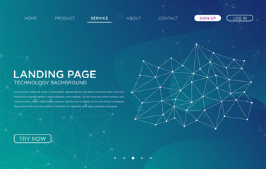 landing page website background template vector design with abstract style and futuristic user interface design vector eps 10