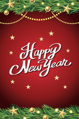 Christmas and Happy new year background, Vector