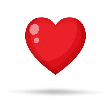 Red Heart Vector Illustration.