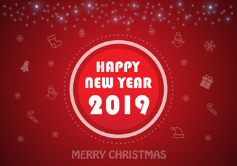 Happy New Year background with 2019