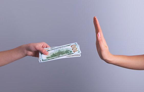 hands money bribe no