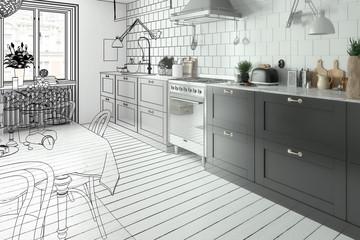 Modern Kitchen Arrangement (development)