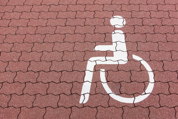 Piktogramm eines Behindertenparkplatzes