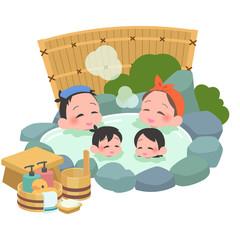 露天風呂 ファミリー