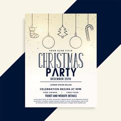 stylish christmas party celebration template design