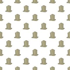 Sepulchral monument pattern. Cartoon illustration of sepulchral monument vector pattern for web