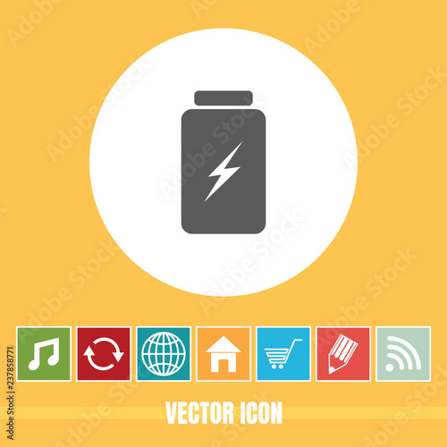 Very Useful Vector Icon Of Battery with Bonus Icons  Very Useful For