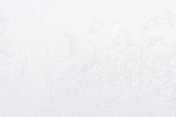 background ice, frozen window covered with frost, abstract silver texture, winter, cold
