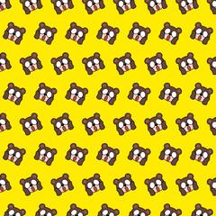 Bear - emoji pattern 60