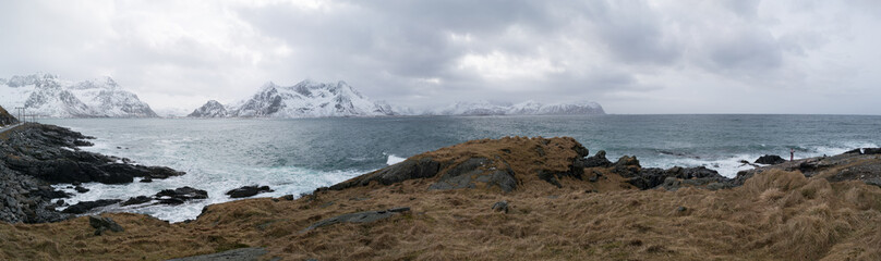 Panorama of the Norwegian landscape
