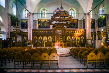 Interior of the church of Agios Titos in Heraklion Town, Crete.