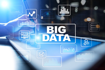 BIG DATA, Analysis and Processing tools. Business and technology concept.
